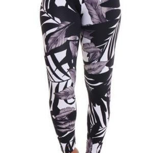Night Leaves Pattern Leggings